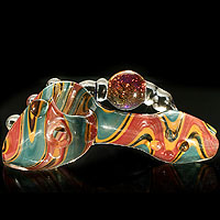 Great art hand pipe glass